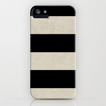 Society6 iPhone・スマホケース Society6 iPhone4/4S,5用 vintage black stripes by Her Art