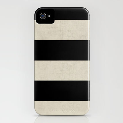 Society6 iPhone・スマホケース Society6 iPhone4/4S,5用 vintage black stripes by Her Art(3)