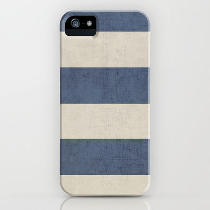 Society6 iPhone・スマホケース Society6 iPhone4/4S,5用 vintage dark blue stripes by Her Art