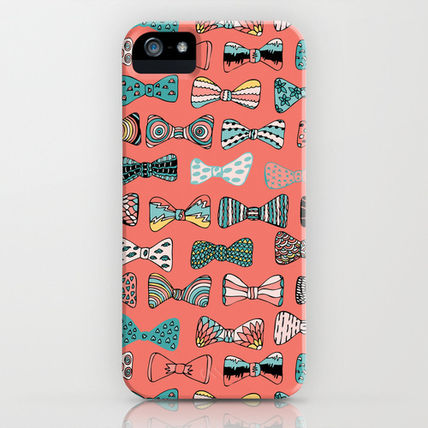 Society6 iPhone・スマホケース Society6 Bow tie geek in pink by Akwaflorell