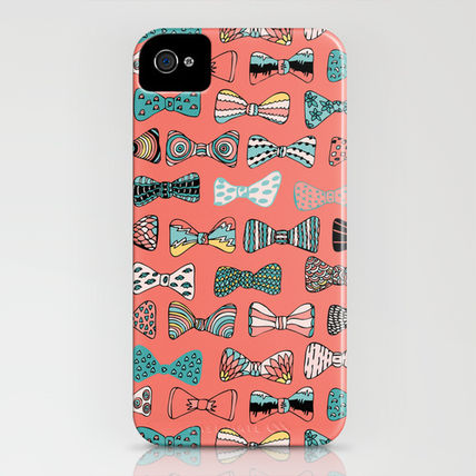 Society6 iPhone・スマホケース Society6 Bow tie geek in pink by Akwaflorell(3)