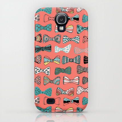Society6 iPhone・スマホケース Society6 Bow tie geek in pink by Akwaflorell(5)
