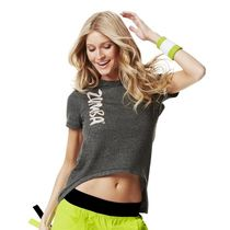 ☆ZUMBA・ズンバ☆Dip It Low Fashion Top BK