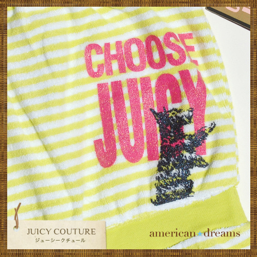 JUICY COUTURE ジューシー ストライプ柄 ショートロンパース