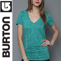(最短翌日着)BURTON バートン The Pieces V-Neck Tee in Emerald