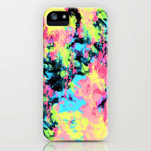 Society6 Blacklight Neon Swirl by Caleb Troy