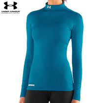 UA WOMEN'S COLDGEAR FITTED LONGSLEEVE MOCK BRE