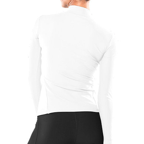 UA COLDGEAR LONGSLEEVE COMPRESSION MOCK WH