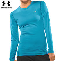 UA WOMEN'S COLDGEAR FITTED LONGSLEEVE CREW BRE