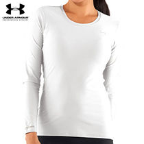 UA WOMEN'S UA HEAT GEAR FITTED LONG SLEEVE SHIRT WH