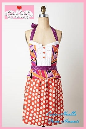the most reasonable security & Anthro geometric apron Red