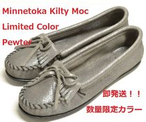 即発送 Limited Color☆ Minnetonka Kilty Moc ピューター