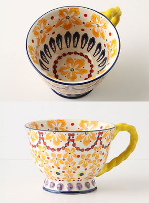 Anthropologie■お洒落♪With A Twist Teacup 3点セット