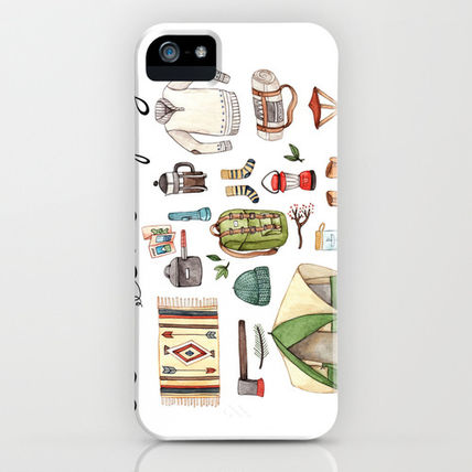 Society6 iPhone・スマホケース Society6 Let's Go Camping by Brooke Weeber