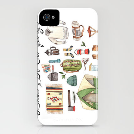 Society6 iPhone・スマホケース Society6 Let's Go Camping by Brooke Weeber(3)