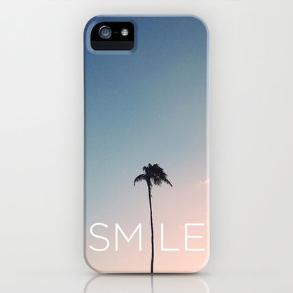 Society6 iPhone・スマホケース Society6 Palm tree Smile by Goldfish Kiss