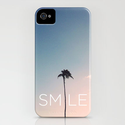 Society6 iPhone・スマホケース Society6 Palm tree Smile by Goldfish Kiss(3)