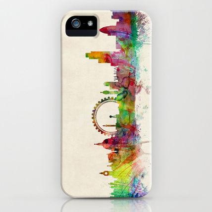 Society6 スマホケース・テックアクセサリー Society6 London Skyline Watercolor by ArtPause