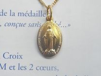Paris Medaille Miraculeuse(奇跡のメダイ) ネックレス・チョーカー パリ♪不思議のメダイ☆金(チェーン付)