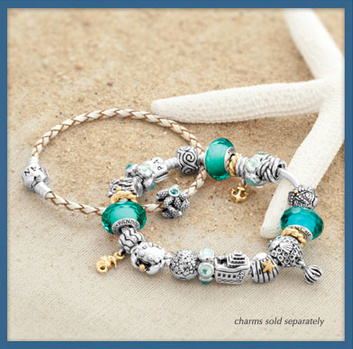 PANDORA パンドラ Tropical Sea Glass Faceted Charm 791610
