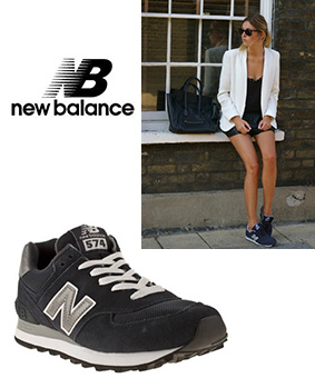 Her models New Balance 574 Trainers Navy
