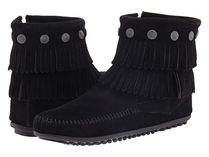 新入荷★Minnetonka Double Fringe Side Zip Boots 人気5色★