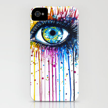 Society6 iPhone・スマホケース Society6 Rainbow Eye(3)