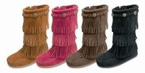 セレブ子供も愛用♪【Minnetonka】3 Layer Fringe Boot