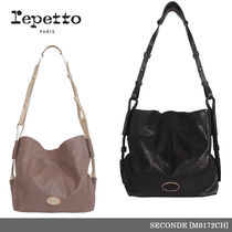 【repetto】SECONDE Make up Calfskin Leather Purse