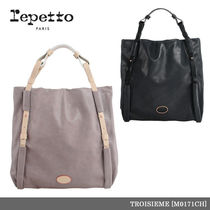 【repetto】TROISIEME Make up Calfskin Leather Purse