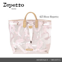 【repetto】ARABESQUE Silk Calfskin Leather Purse