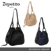 【repetto】REVERENCE Silk Calfskin Leather Purse