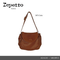 【repetto】ADAGIO Silk Calfskin Leather Purse