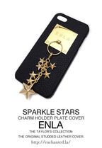 iPhone5s 対応ケース★【ENLA】SPARKLE STARS CHARM COVER GOLD