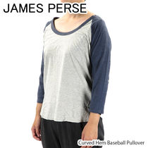 【James Perse】Curved Hem Baseball Pullover[WAY3806]