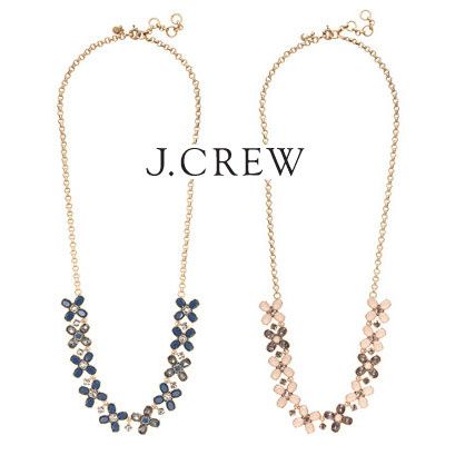 J.CREW■可憐♪クローバーネックレス/Crystal clovers necklace