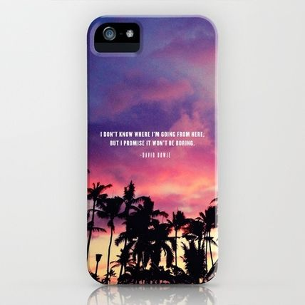 Society6 iPhone・スマホケース Society6 1980's sunset and quote by Goldfish Kiss
