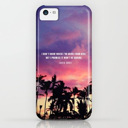 Society6 iPhone・スマホケース Society6 1980's sunset and quote by Goldfish Kiss(3)