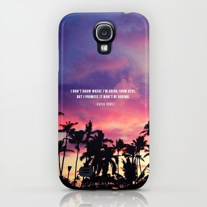 Society6 iPhone・スマホケース Society6 1980's sunset and quote by Goldfish Kiss(5)
