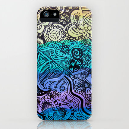 Society6 iPhone・スマホケース Society6 Watercolor Doodle by Kayla Gordon