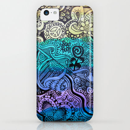 Society6 iPhone・スマホケース Society6 Watercolor Doodle by Kayla Gordon(3)