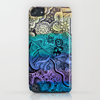 Society6 iPhone・スマホケース Society6 Watercolor Doodle by Kayla Gordon(4)