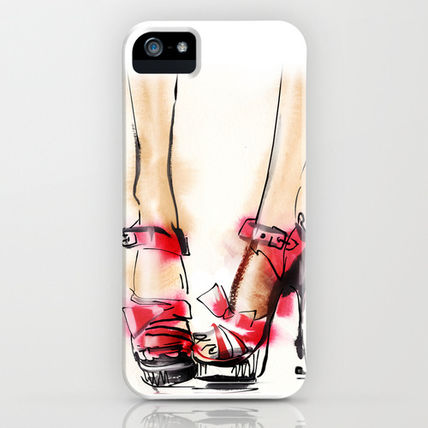 Society6 iPhone・スマホケース Society6 Red shoes by Tatiana-teni(2)