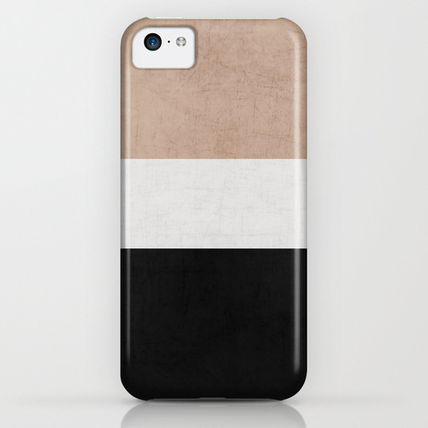 Society6 iPhone・スマホケース Society6 classic - natural, cream and black by Her Art