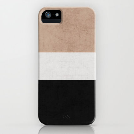 Society6 iPhone・スマホケース Society6 classic - natural, cream and black by Her Art(2)