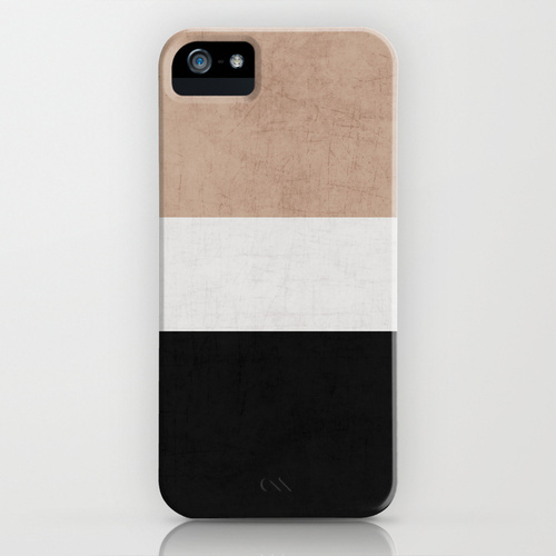 Society6 classic - natural, cream and black by Her Art