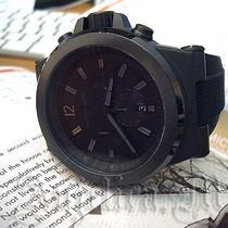 ★ユニセックス★Michael Kors Mens Black Silicone Watch