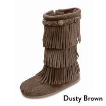 ★大人気!! KIDS Minnetonka 3-LAYER FRINGE BOOT-Dusty Brown★