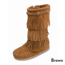 ★大人気!! KIDS Minnetonka 3-LAYER FRINGE BOOT-Brown★