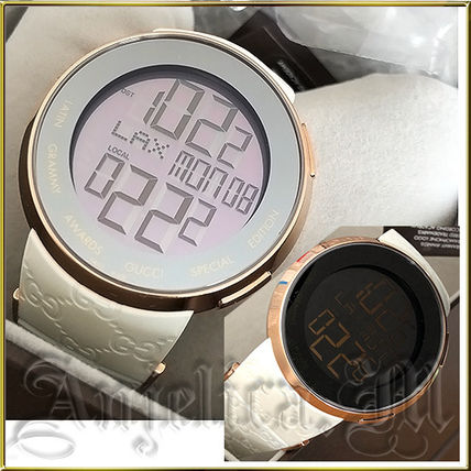 ★人気モデル★Gucci I-Gucci Digital Blue Rubber Mens Watch